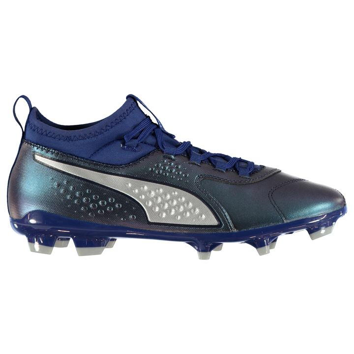 Puma ONE 3 Men's Navy/Silver FG Football Boots