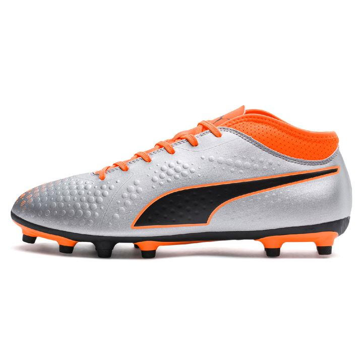 Puma ONE 4 Silver/Orange Men's FG Football Boots