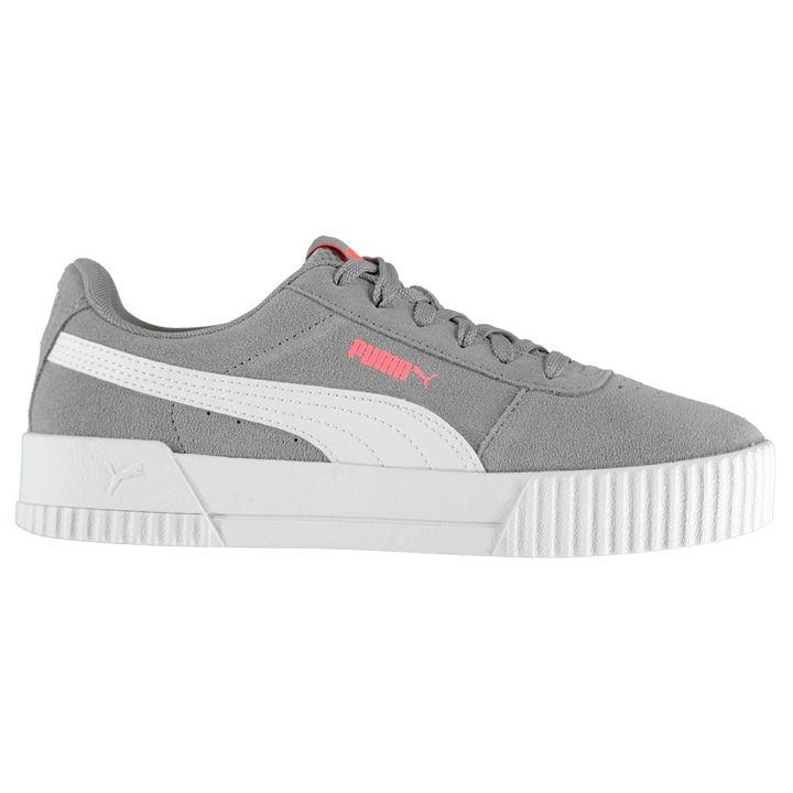 Carina Suede Grey/White Ladies Trainers