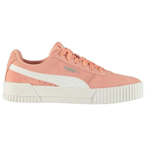 Carina Suede Peach/White Ladies Trainers