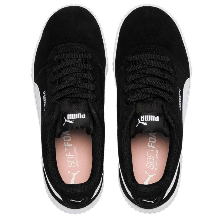 best collection quality amazon Puma Carina Suede Black/White Ladies Trainers