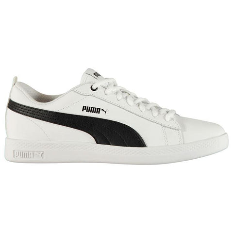 Puma Smash Leather White/Black Trainers Ladies