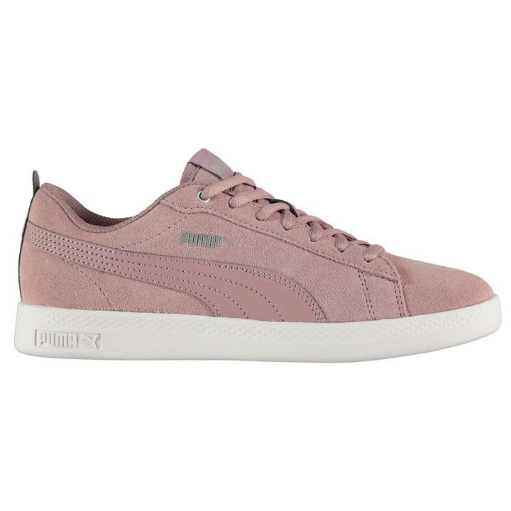 Puma Smash Suede V2 Elderberry/White Ladies Trainers