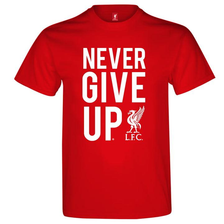 Never Give Up T Shirt Mens