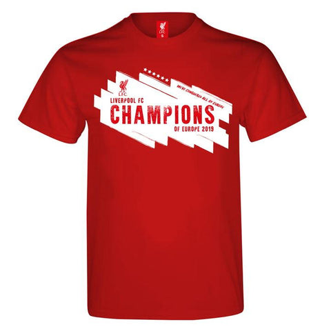 Champions of Europe T Shirt Mens
