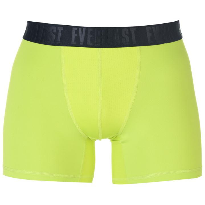Black/Lime Men Training Trunk 2 Pack