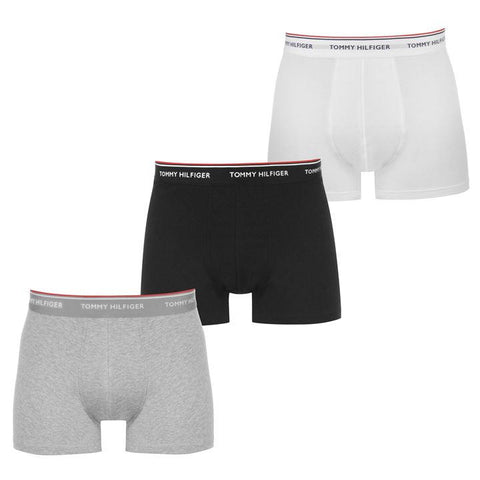 Tommy Hilfiger Black/Grey/White Men's 3 Pack Big & Tall Trunks