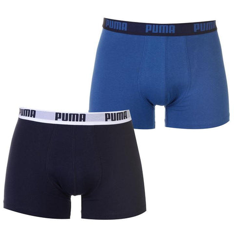 Basic Dark True Blue Men's Boxer Shorts 2 Pack