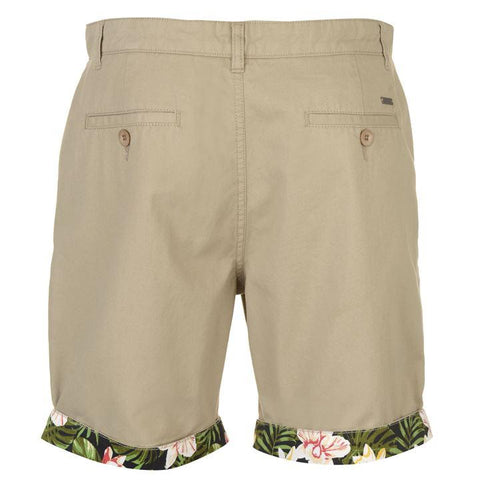 Stone AOP Turn Up Men's Shorts