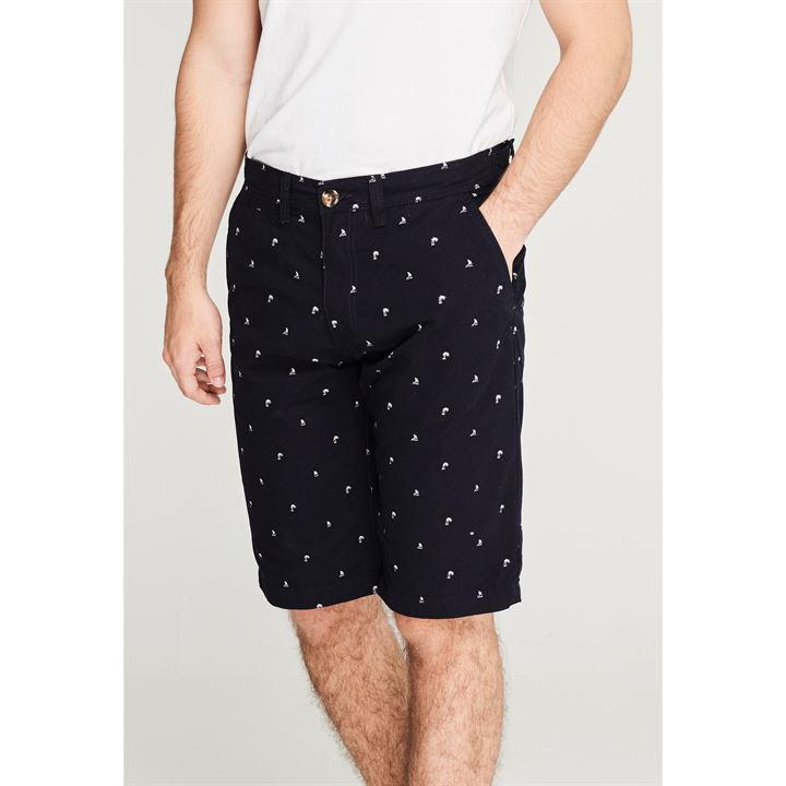 Soul Cal Navy All Over Print Chino Men's Shorts