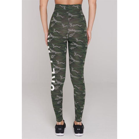 Green Camo GRL Leggings