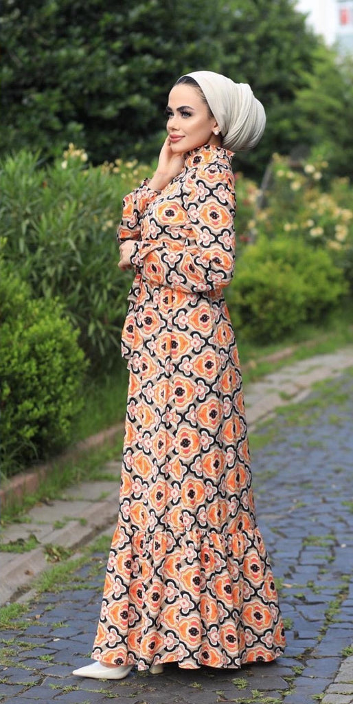 Long Printed Summer Dress By 1002 Collection