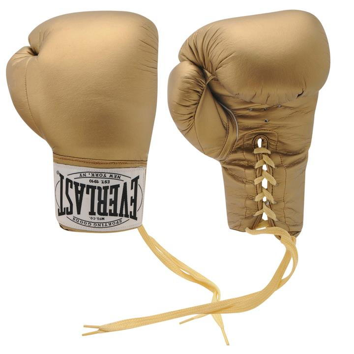 Everlast Autograph Boxing Gloves - Gold
