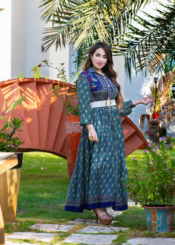 1002 Collection Eid Printed Dress
