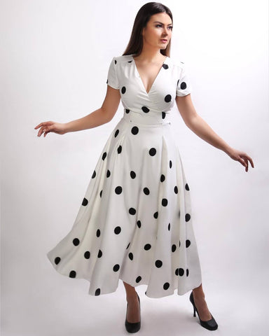 Polka-dot Maxi Dress