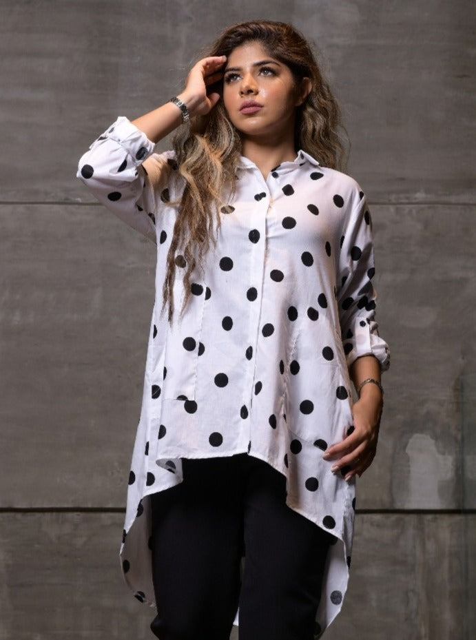 1002 Collection Polka Dot shirt