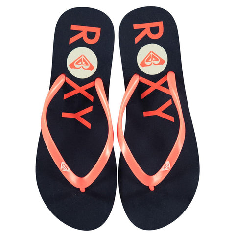 ROXY Logo Flip Flops Ladies