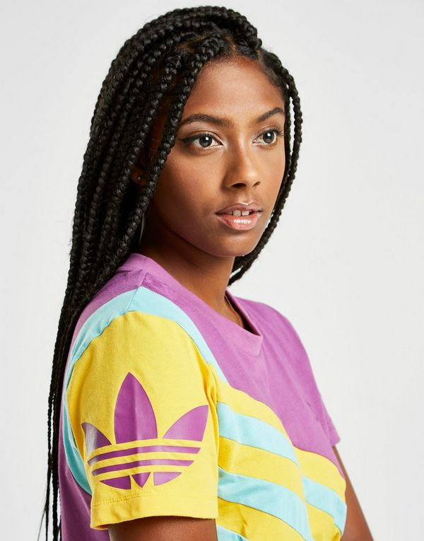 Originals '90s Colour Women Block Crop T-Shirt