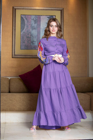 Long Tiered Dress By 1002 Collection