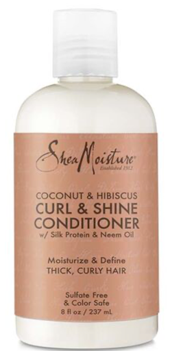 Shea Moisture Coconut & Hibiscus, Curl & Shine conditioner