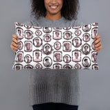 Black Icons Pillow