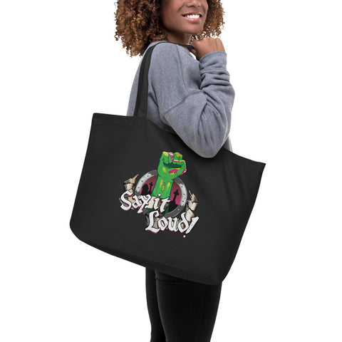 Double-Sided Graveyard Things Organic Tote