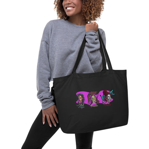 Black Monsters Organic Tote in Black