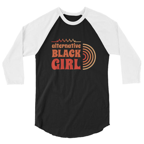 70's Alt Black Girl Raglan Top