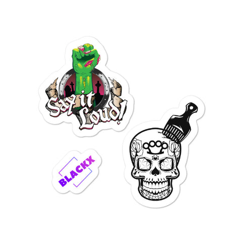 Zombie Fist & Skull 2-Sticker Set
