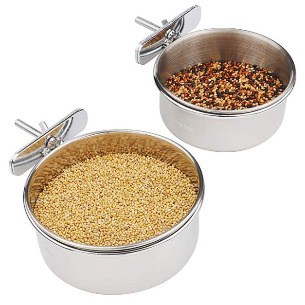 Stainless Steel Food Water Bowls Dish for Small Animal,