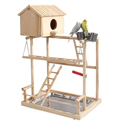 ROCKEVER Parrot Play Stand Bird Playground Cockatiel