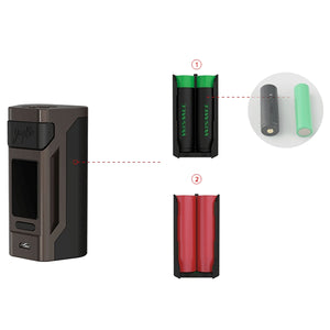 Wismec Reuleaux RX2 20700 200W TC Kit mit GNOME Tank - 4ml