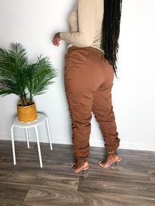 Solid High-Waist Pants