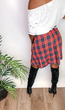 Load image into Gallery viewer, Plaid Tie Skirt