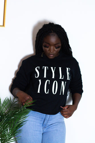 ''Style Icon'' - Printed Long-Sleeve Sweatshirt