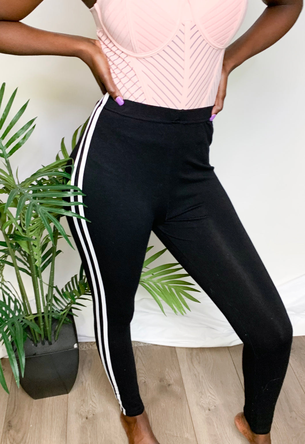 Two Strikes High Waist Pants