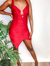 Load image into Gallery viewer, Detty Red Mini Dress