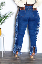Load image into Gallery viewer, Tassel High-Waist Jeans