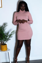 Load image into Gallery viewer, Turtleneck Long-Sleeve Bodycon Dress