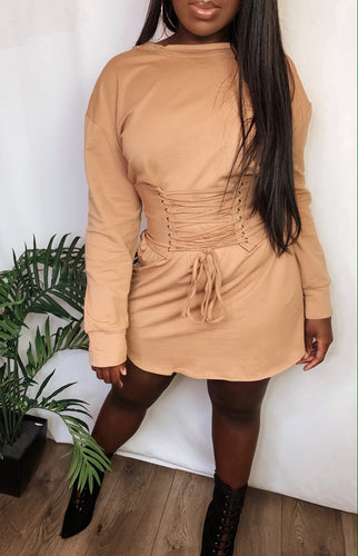 Didi Nude T shirt Dress