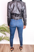 Load image into Gallery viewer, Faux Leather Moto Jacket