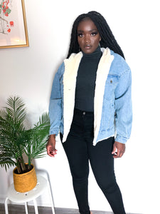 Classic Long-Sleeve Denim Hooded Jacket