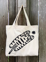 Free-motion Embroidered Tote