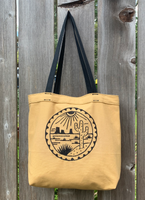 freehand machine embroidery on handmade bag by artist louis bicycle. 100% cotton made in usa