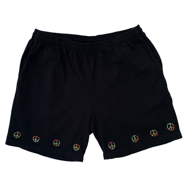 Embroidered Jersey Shorts - Large