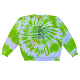 Embroidered and Dyed Lightweight Crew Neck Sweater - Medium