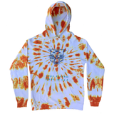 Embroidered and Dyed Lightweight Hoodie - Small