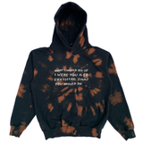 Embroidered and Dyed Hoodie - Medium
