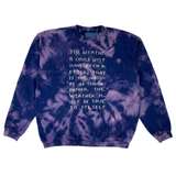 Embroidered and Dyed Crew Neck Sweater - Large
