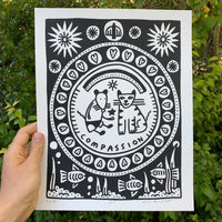 Screen Printed Poster / 11in x 14in / L20